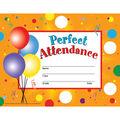Hayes Perfect Attendance Certificates & Reward Seals, 30 Per Pack