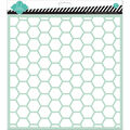Heidi Swapp 12\u0027\u0027x12\u0027\u0027 Plastic Spray Stencil-Hexagon