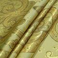 Casa Embellish Brocade Fabric -Gold Large Scroll