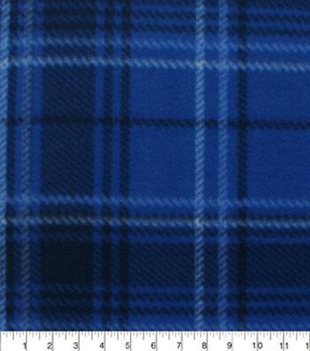 "Blizzard Fleece Fabric 59""-Aspen Blues Plaid"