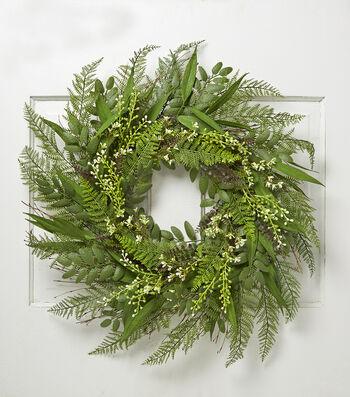 Bloom Room Spring 30'' Meadow & Fern Wreath
