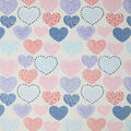 Soft & Minky Fleece Fabric-Sketched Hearts Multi