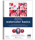 Strathmore Learn To Paint Wire Pad 9\u0022X12\u0022-Watercolor Basics