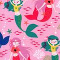 Snuggle Flannel Fabric -Bohemian Mermaids