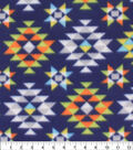 Blizzard Fleece Fabric-Lime & Navy Aztec