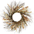 Blooming Autumn Paper Floral Wreath-Mauve & Ivory