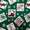 Christmas A Christmas Story Flannel Fabric-Stamps