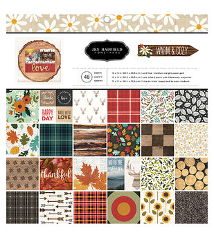 American Crafts Jen Hadfield Pack 48 Warm & Cozy Paper Pad