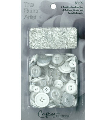 The Button Artist Buttons & Beads White