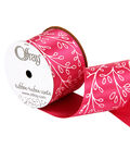 2.25\u0022 Geo Pinks Leaf 1 Ribbon