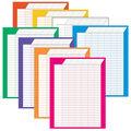 Jumbo Variety Pack Vertical Incentive Charts, 22\u0022 x 28\u0022, Pack of 8