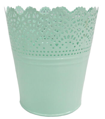 Easter Decor Small Metal Cut-out Basket-Blue