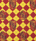 Harry Potter Flannel Fabric-Gryffindor on Argyle
