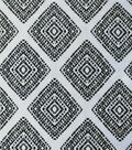 Summer Ponte Knit Fabric 57\u0027\u0027-White & Black Diamond