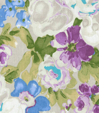 "Home Essentials Decor Fabric 45""-Blossom Boutique Violet"