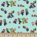 Mario Cotton Fabric-Mario Adventures