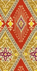 Home Decor 8\u0022x8\u0022 Fabric Swatch-IMAN Home Ikat Diamond Spice