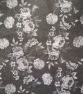 Sportswear Denim Stretch Fabric 57\u0022-Black & Gray Floral