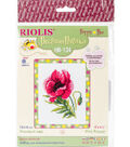 RIOLIS Happy Bee 5\u0027\u0027x6.25\u0027\u0027 Counted Cross Stitch Kit-Pink Poppy