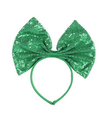 St. Patrick's Day Decor Sequin Bow Headband
