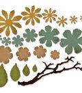 Sizzix Thinlits Dies-Small Tattered Florals