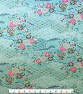 Knit Fabric 57\u0027\u0027-Floral & Geometrics on Aqua