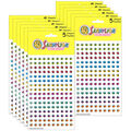 Silver Lead Co. Multicolor Bees Chart Stickers 800 Per Pack, 12 Packs