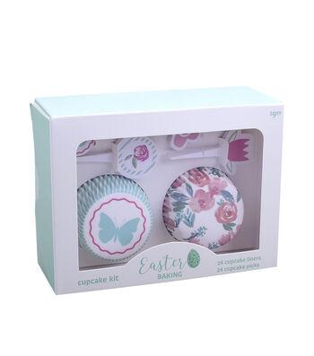 Easter Cupcake Liner & Pick Set-Butterfly & Floral