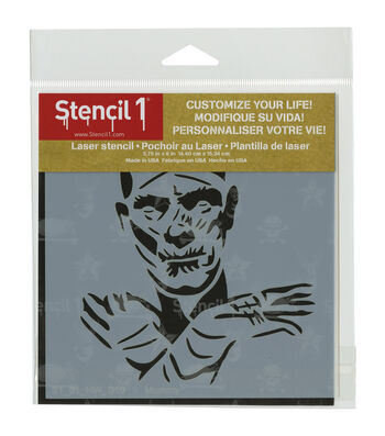 Stencil1 Customize Your Life! 5.75''x6'' Plastic Laser Stencil-Mummy