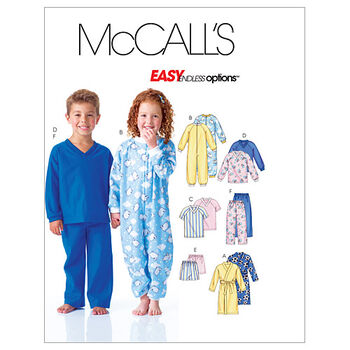 McCall's Pattern M6224 Children's Sleep & Lounge-Size 4-5-6