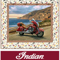 Quilt Kit-Indian Motorcycle Coastal Bliss by Riley Blake