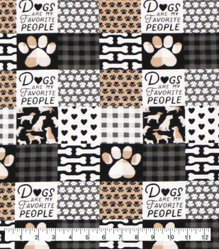 Super Snuggle Flannel Fabric-Dogs Are My Favorite People Patch