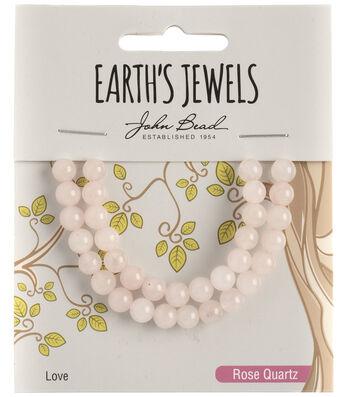 Earth's Jewels Semi-Precious Round 6mm Beads-Rose Quartz