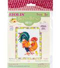 RIOLIS Happy Bee 5\u0027\u0027x6.25\u0027\u0027 Counted Cross Stitch Kit-Rooster\u0027s Chick