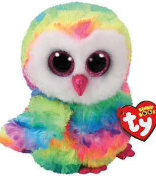 TY Beanie Boo Multicolor Owl-Owen