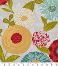 Robert Allen @ Home Print Swatch 55\u0022-Luna Flora Poppy