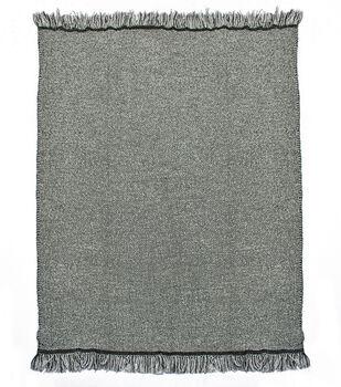 Simply Autumn 50''x60'' Textured Throw-Black & White