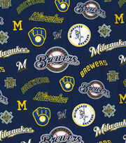 Cooperstown Milwaukee Brewers Cotton Fabric, , hi-res