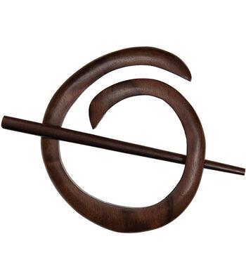 Spiral Shawl Pin-Tiger Ebony