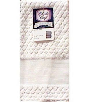 "Estate Diamond Weave Towel 15""X27""-White"