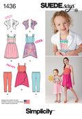 Simplicity Pattern 1436K5 7-8-10-12--Child Girl Dresses
