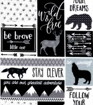 Nursery Flannel Fabric Be Brave Patch