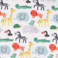 Blizzard Fleece Fabric-Zoo Animals