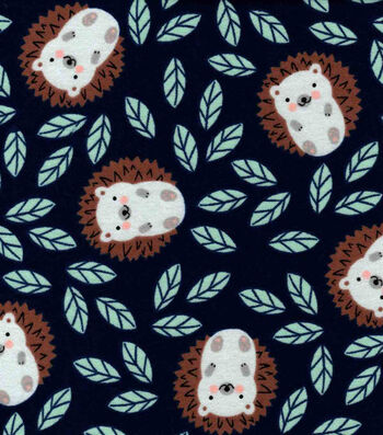 Nursery Flannel Fabric-Eamon Hedgehogs