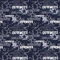 Dallas Cowboys Cotton Fabric-Distressed