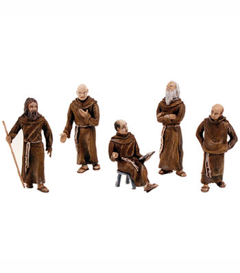 Friars/Monks Figurines 5/Pkg-