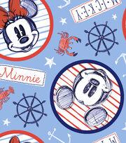 Disney Mickey & Minnie Mouse Fleece Fabric 59''-Nautical at Sea, , hi-res