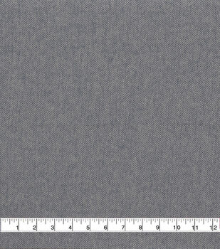 Plaiditudes Brushed Cotton Apparel Fabric -Navy & White Herringbone