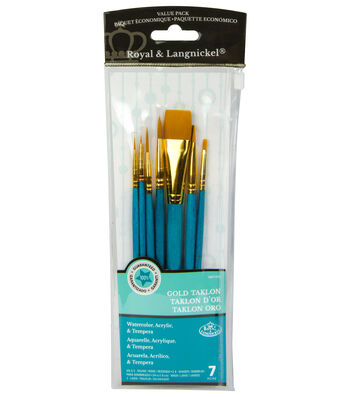 Royal Langnickel 7pc Brush Set-Gold Taklon