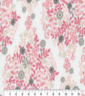 Anti-Pill Fleece Fabric-Sabina Blush Small Floral